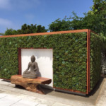 Residential Living Wall: Beautiful, Simple and Meditation spot