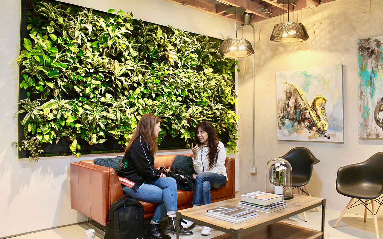 Can Adding a Vertical Garden Wall to the Office Lower Employee Stress and Increase Your Bottom Line?